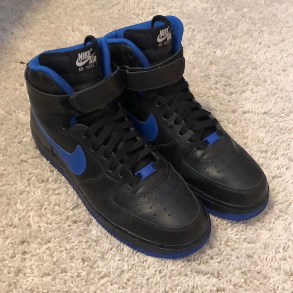 Nike Shoes Id Royal Tux Air Force 1 Highs My Colorway Poshmark